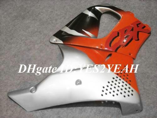 Kit carena HONDA CBR900RR 96 97 CBR 900RR CBR900 CBR 900 RR 893 1996 1997 arancio argento Carrozzeria kit + 7gifts Hx24