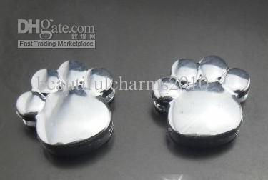 Venta al por mayor 100 unids / lote 8 mm pata de cromo encanto de la diapositiva ajuste para 8 MM pulsera de cuero llaveros diy accerrories joyas hallazgos