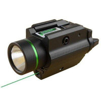 Wholesale Tactical Laser Sight Led Light - Tactical M6 BK CREE LED Flashlight & Green Laser Sight Combo W Picatinny Rail