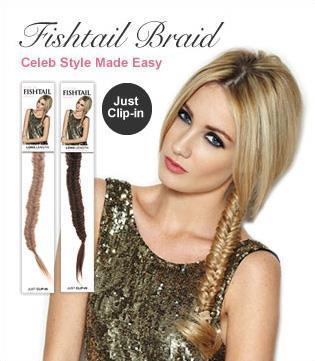 Fishtail braid with hair extensions choice image hair extension 2018 clip in fishtail plait plaited pony tail hair extension braid 2018 clip in fishtail plait pmusecretfo Image collections