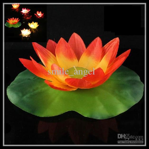 Wishing Light Lotus Lamps Paper Flower Water Lily Wish Lantern Water ...