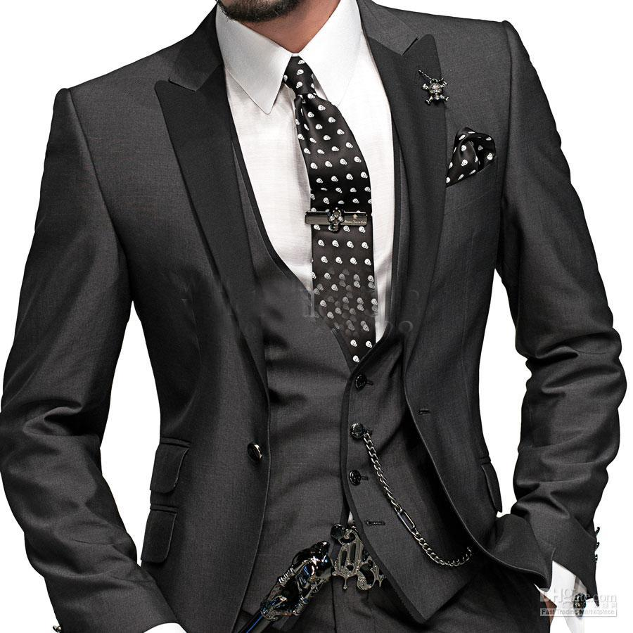 Romantic Black Wedding Man'S Suit / Lounge Suit Wedding TuxedosAny ...