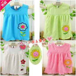 Wholesale Hot Christmas Mini Skirt - Children skirt baby dress baby flower cotton skirt 5pcs lot 2013 hot