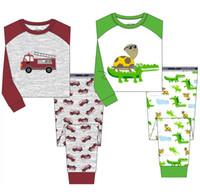 Wholesale Girls Jump Suits - Wholesale Jumping Beans Boy's Pajamas Suit Toddler Sleepwear Children's Pyjama Cotton PJ'S Girl Pijama Sets Kids Underwear M1760