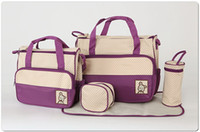 Wholesale Mummy Bags Nursery - Free shipping diaper bag mummy packet baby bags nursery package Mama packs 7 colors