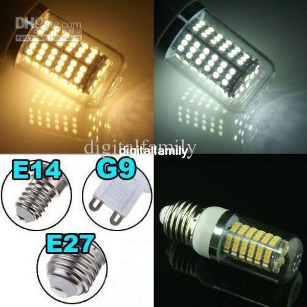 Cheap Led Corn Light E27 G9 E14 8W 650-Lumen 120 SMD With Cover 3528 LED Light AC 110V / 220V Energy Saving LED Light Bulbs indoor lighting