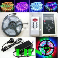 Wholesale power supply 4a for sale - Group buy Dream color LED Strip light RGB Magic intelligent LED M Program RF Controller A Power supply FreeShipping set