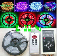 Wholesale Dream Color Led Strip - Magic LED Strip 5050 RGB SMD Intelligent Strip Light Dream Color 6803IC 150LED 5M waterproof 133 Program Free Shipping 1 set lot