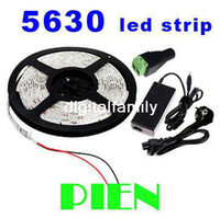 Wholesale Led Bedroom Light Strip - Super bright led strip light Flexible 5630 SMD 300 LED 5M Warm white Cool white 12V Waterproof + 6A Power supply for bedroom living room