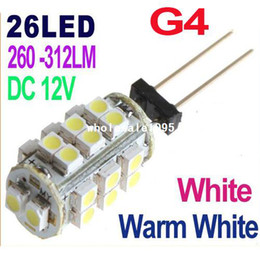 r7s led lamp 78mm Rebajas DC 12V G4 26 lámpara LED blanca / luz blanca cálida SMD 1210 Home Car RV Marine Boat Lámparas LED Bombilla Libre al por mayor caída