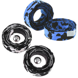 Wholesale Bicycle Handlebar Tapes - 2 Pcs Bike Bicycle Cycle Handlebar Tape Wrap & 2 Bar Plug Accessories for Outdoor Sports , Free Wholesale drop