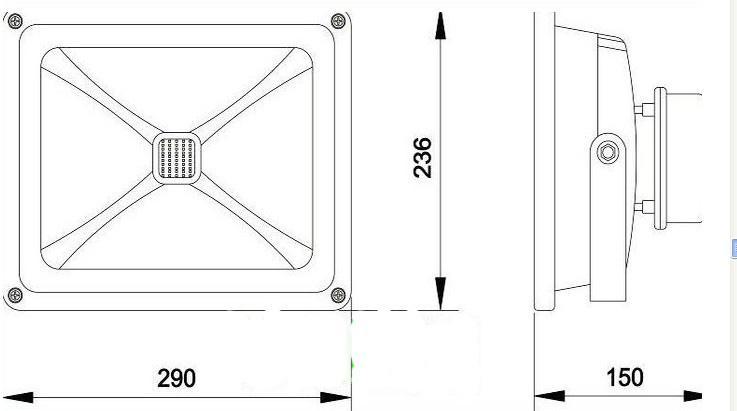 50W al aire libre LED reflector IP65 IP65 A prueba de agua Refector de proyectos de proyectos de proyectores de proyectores para jardín yarda cartelera decoración ww cw azul verde