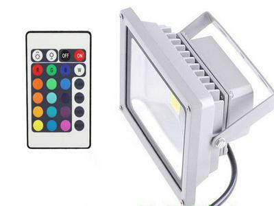 20W RGB LED Outdoor Floodlight Waterproof IP65 Flood Lights 20 Watt High Power Lighting Reflector Changing Lamp with Controller