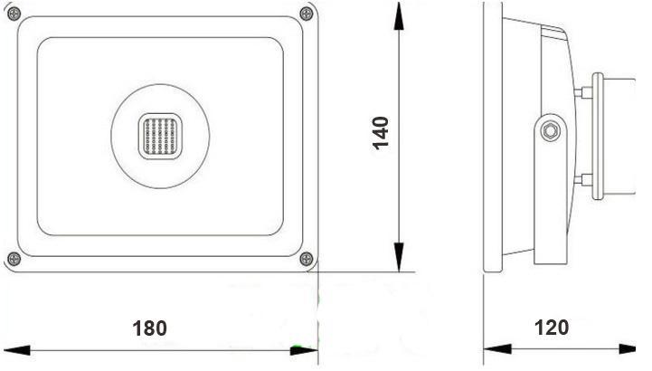 Flutlichter 20W LED Flutlichter IP65 Flutlicht 20 Watt-Wandfluter-Hochleistungs-Beleuchtungsprojektor CER ROSH WW CW / über Eil
