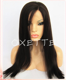 Lighting French Canada - Oxette free shipping side parting light yaki straight full lace wig natural hair line front lace wig baby hair bleached knots