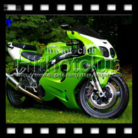 Blanc Zx Carénages Pas Cher-7gifts HOT Green Pour KAWASAKI 96-03 NINJA ZX7R HL # 1259 1996 1997 1998 1999 2000 2001 2002 2003 COOL Green White ZX-7R ZX 7R Full Fairings