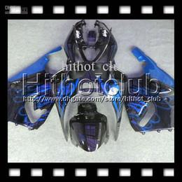 2019 kawasaki zx7r kits de carenado 7gifts Blue flames black Para KAWASAKI NINJA 96-03 ZX7R 96 97 98 99 00 01 02 03 1996 1997 2003 azul negro HL # 1435 ZX-7R ZX 7R Fairing Kit rebajas kawasaki zx7r kits de carenado
