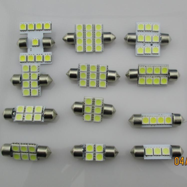 20 * 36mm 6 SMD 5050 peut choisir 31mm 39mm 41mm LED feston dôme ampoules ampoule led de couleur blanche feston bleu