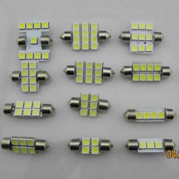 20 * 36mm 6 SMD 5050 (peut choisir 31mm 39mm 41mm) LED feston dôme ampoules ampoule led de couleur blanche feston bleu