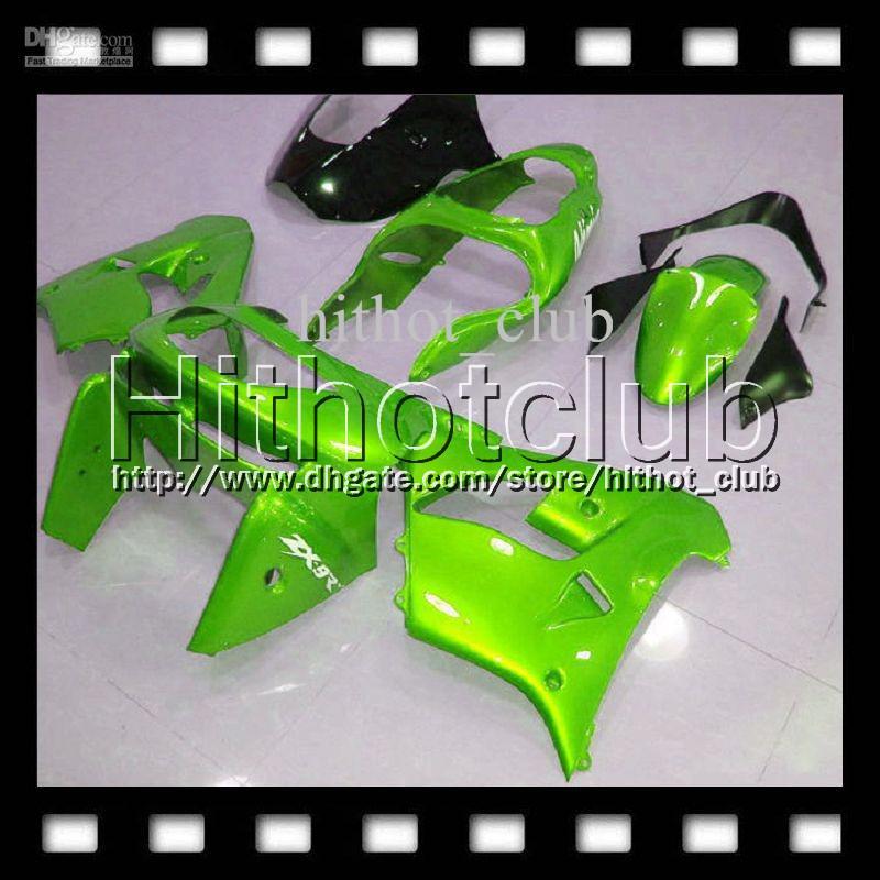 7diversos Para KAWASAKI NINJA 98 99 ALL Verde ZX9R 1998 1999 ZX-9R 9 R ZX 9R HL # 1632 Verde claro 98 99 1998 1999 100% NUEVOS carenados del cuerpo personalizados