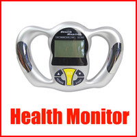 calculadora de grasas corporales al por mayor-Mini portátil Health Body Tester Calculadora Digital Body Fat Analizador Health Monitor BMI Meter dispositivo