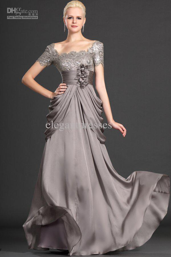 Modest Custom made 2019 New sexy mother short sleeve with flowers formal evening dress elegant chiffon mother of the bride dresses gla017