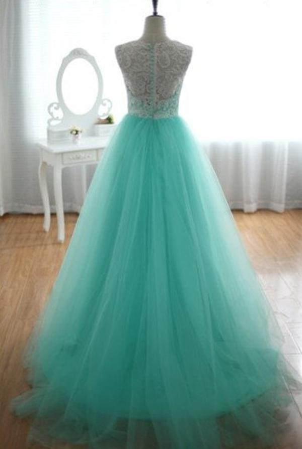 2013 Lace Tulle Turquoise Wedding Dresses Sleeveless Sweetheart Floor Length Ball Gown Bridal Gown