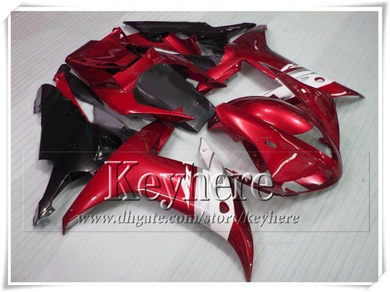 Lage Prijs Plastic Black Red Motorcycle Backings YZF-R1 02 03 YZF R1 2002 YZFR1 2003 FUNLING BODY KIT VOOR YAMAHA met 7 geschenken TP54