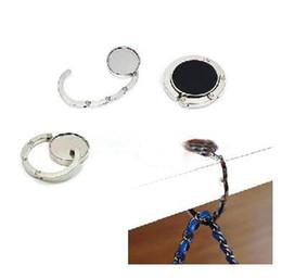 Hangers Diy NZ - Wholesale 100pcs BLANK Folding Purse Hook DIY Handbag Hanger Holder- DHL Free shipping