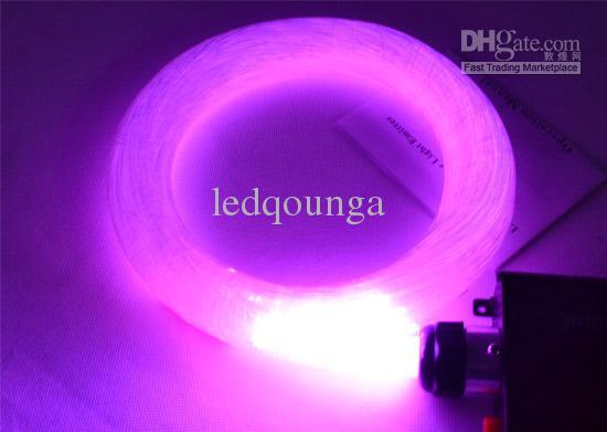 Optikai Szai LED Fibra Optica 1mm 45W 5m RGB Engine Lights DIY Ceiling Kits Optic Fiber Lampada 110V 220V + Remote Controller + Engines CE