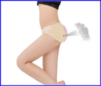 Wholesale Shape Buttocks Women - 100pcs Lot Print Style 3 colors Buttock Up Panty Women Hip Padded Panties Body Shaping Knickers S-XL