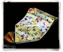 Wholesale Modern Table Runners - Modern European Printed Yellow Damask Table Runner Long Dining Table Cloth High End Decoration Bed Runners size L200 x W35cm 1pcs Free