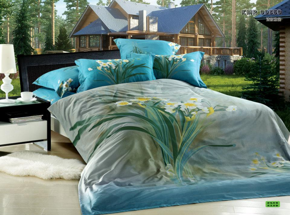 3d Bedding Sets 3d Floral Blue Green Turquoise Calla