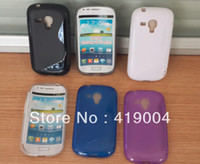 Wholesale S Line Galaxy S3 - For Samsung Galaxy s3 MINI I8190 S Line style soft TPU Gel Case Free shipping,10pcs lot