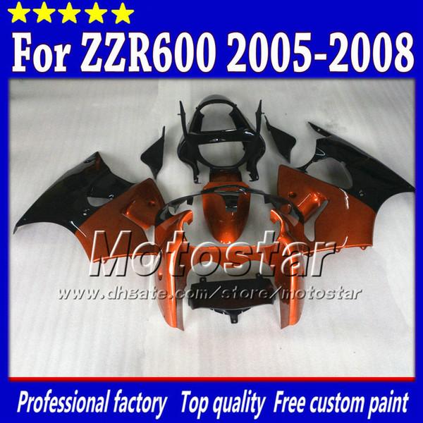 Free Custom body fairings for kawasaki 2005 2006 2007 2008 ZZR600 ZZR 600 05 06 07 08 custom fairing set