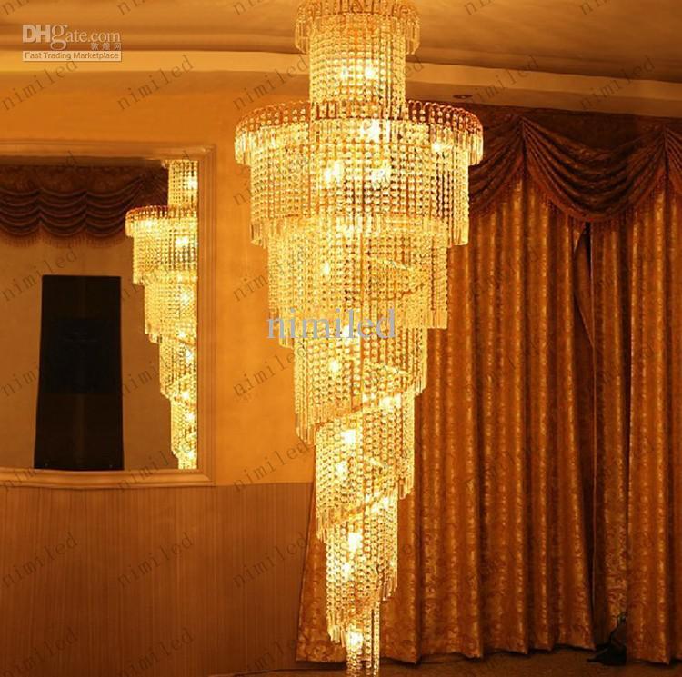 nimi32 Moderne Treppe Lichter K9 Kristallkugel Kronleuchter Licht Lange Pendelleuchte Beleuchtung Duplex Treppenhaus Villa Wohnzimmer Hotel Shop