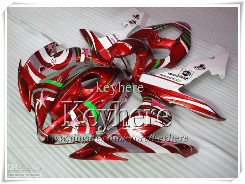 7 kostenlose Geschenke! Verkleidung Körper Kits für YAMAHA rot weiß YZF R1 YZFR1 2004 2005 2006 Kunststoff Rennen Motorradverkleidungen Set YZF-R1 04 05 06 Gf64