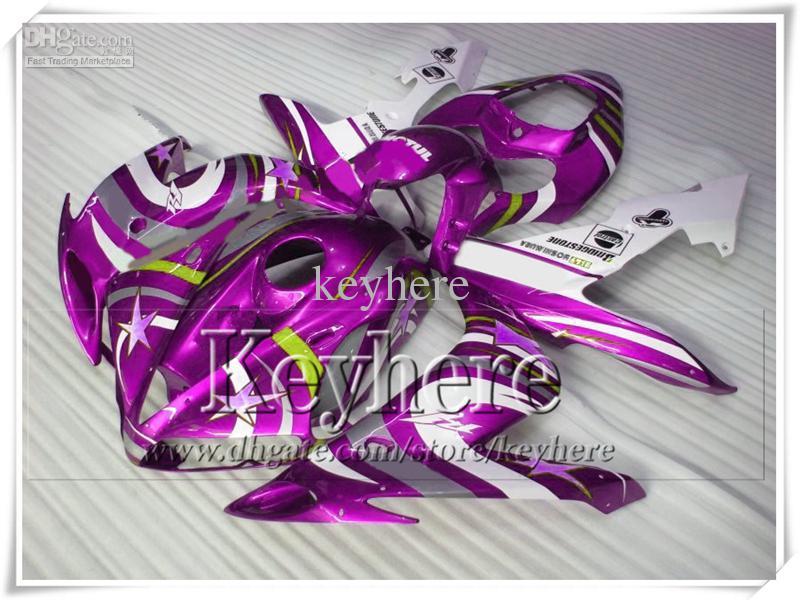 Motorrad Verkleidung Kit für YZF R1 04 05 06 YAMAHA 2004 2005 2006 YZFR1 YZF-R1 ABS weiß lila Verkleidung Körperarbeit mit 7 Geschenke Gf65