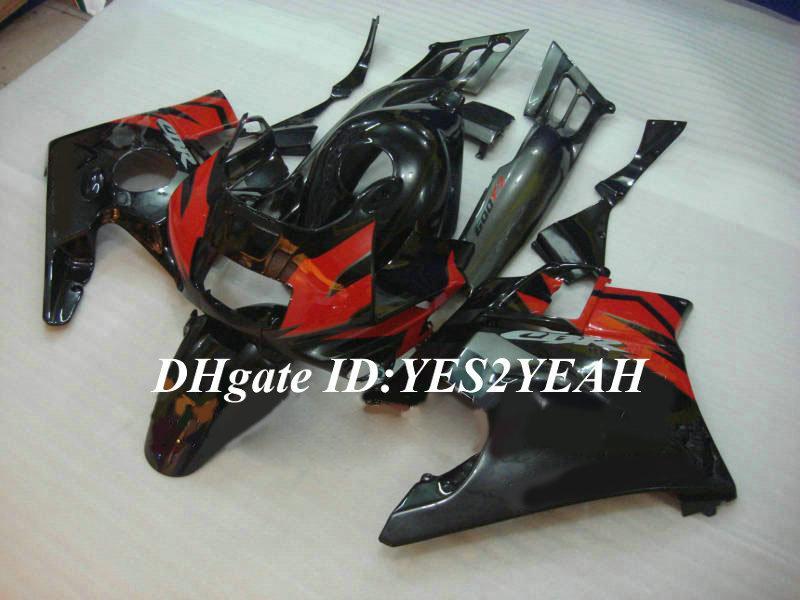 Kit de carenado de motocicleta para HONDA CBR600F2 91 92 93 94 Carrocería CBR 600F2 CBR600 rojo brillo negro CBRF2 1991 1992 1994 + regalos HG50