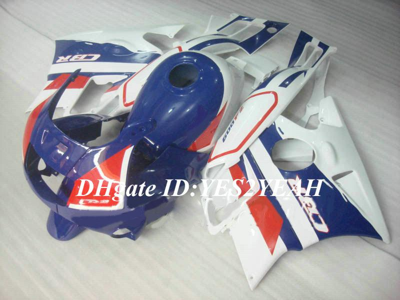 Verkleidungsbausatz für HONDA CBR600F2 91 92 93 94 CBR 600F2 CBR600 CBRF2 1992 1992 1994 weiß blau Verkleidungen + Geschenke HG54