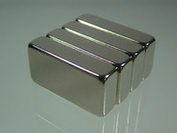 "Wholesale Strong Neodymium - 4pcs lot block 1""*1 2""*1 4"" N52 Neodymium Magnets rare earth Permanent Strong Craft free shipping"
