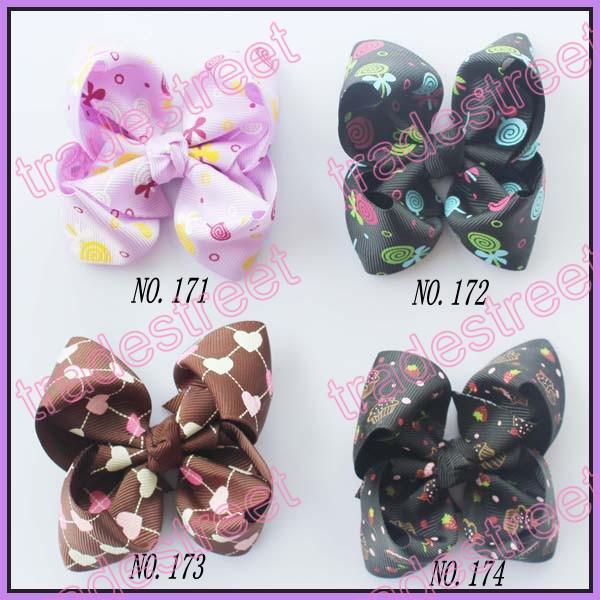 3.5'' Boutique hair bows clip fashion girl boutique hair bows fashion clips