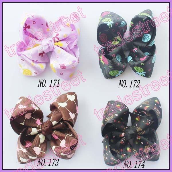 free shipping 100pcs 3.5'' Boutique hair bows clip fashion girl boutique hair bows fashion clips