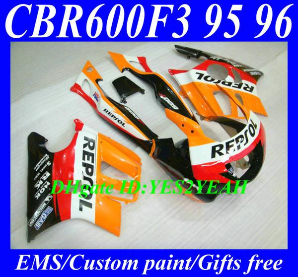 Обвес обтекатель для HONDA CBR600F3 95 96 CBR 600F3 CBR600 CBRF3 CBR 600 F3 1995 1996 REPSOL Обтекатель кузова HG86