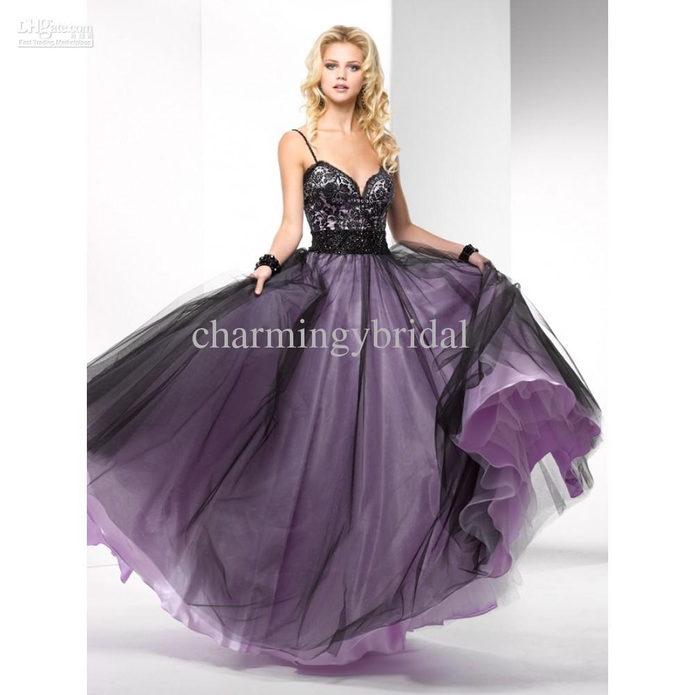 Compre Fabuloso Vestido De Baile Sexy Simple A Line Straps Negro ...