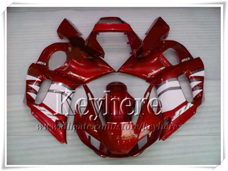Personaliseer Realing Body Kit voor Yamaha Rood Wit YZF-R6 1998 1999 2000 2001 2002 Plastic Motobike Parts YZF R6 98-02 met 7 geschenken RY30