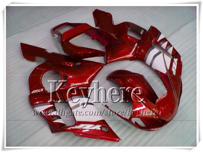 Personalizar kit de carenado para YAMAHA rojo blanco YZF-R6 1998 1999 2000 2001 2002 piezas de motobike de plástico YZF R6 98-02 con 7 regalos Ry30