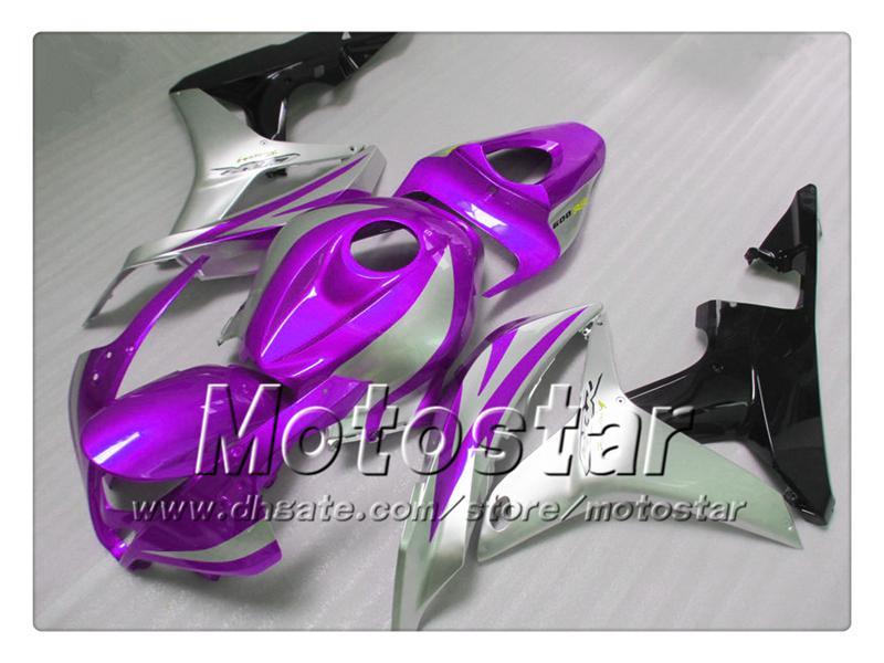 Spritzguss-Verkleidungssatz für HONDA CBR600RR 2007 2008 CBR 600 07 08 CBR600 Verkleidungskörper-Kit sr105, dunkelviolett glänzend