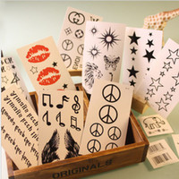 Wholesale Temporary Tattoos Love - Ladies man loving 60 types Waterproof Temporary Tattoos stickers rose butterfies body art tattoo t5613