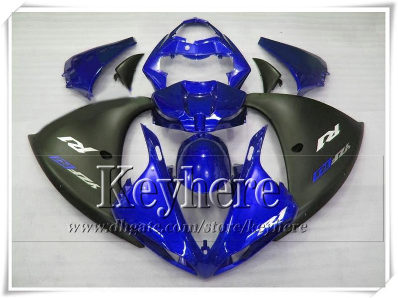 7 regalos gratis! Kit de carenado de plástico negro mate azul para YAMAHA 2009 2010 2011 YZF-R1 YZF R1 YZFR1 09 10 11 YZF 1000 trabajo del cuerpo de la motocicleta Gt10